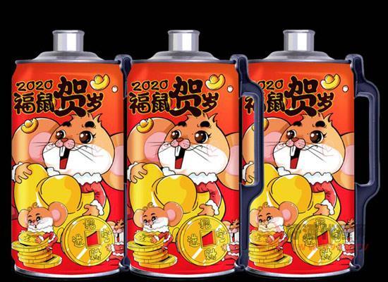 青岛特产原浆啤酒,福鼠贺岁珍藏版!