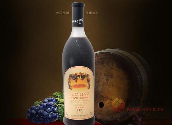 驼铃风干甜红葡萄酒,新疆美酒,国人喜欢的味道!