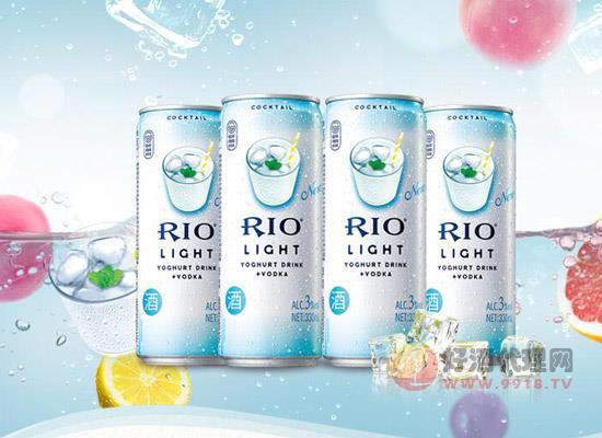鸡尾酒rio锐澳易拉罐卖多少钱,微醺乳酸菌330毫升8联罐价格