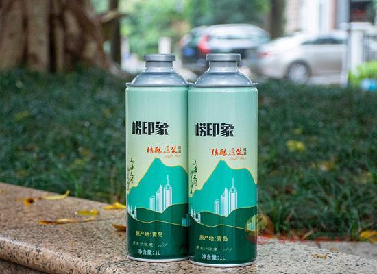青島嶗印象啤酒價格貴嗎,1l多少錢