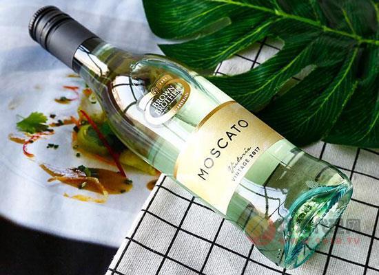 澳洲小甜水,布朗兄弟莫斯卡托甜白葡萄酒