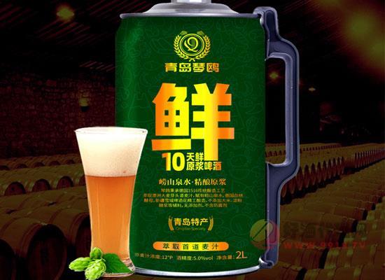 青岛特产琴鸥精酿原浆啤酒的特点是什么,2l装更鲜活