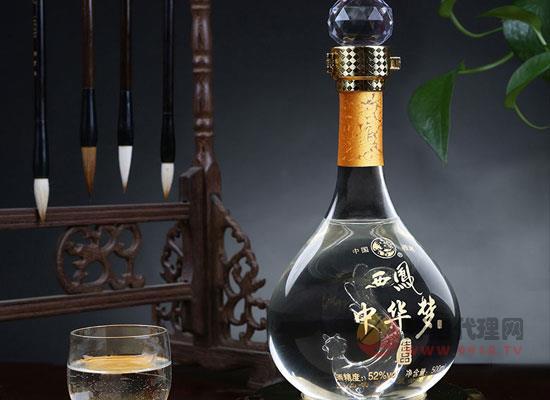 西鳳酒52度中華夢,糧食釀造,送禮之選