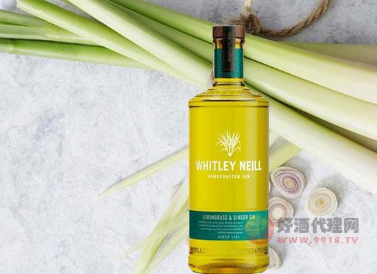 惠特利檸檬草味手工金酒,口味多樣性,美味更暢飲