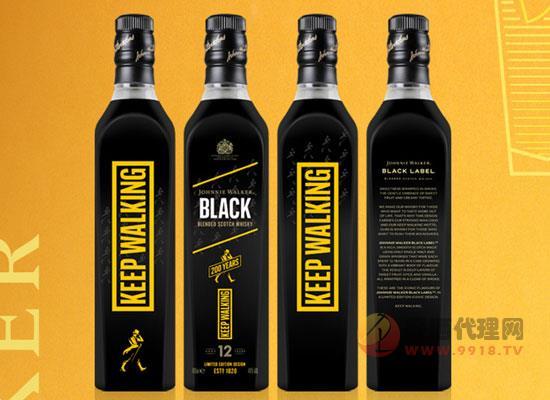 尊尼獲加黑牌黑方威士忌,標志醇和,行不限界