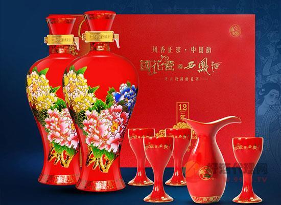 國花瓷西鳳酒12年價格怎么樣,禮盒裝多少錢