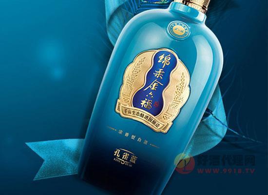 金六福綿柔孔雀藍白酒,專為商務禮遇設計