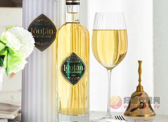 樓蘭小粒麝香甜白葡萄酒,芳香濃郁,美味百搭