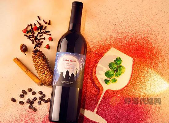 三只熊仙粉黛干紅葡萄酒,美國葡萄酒的名片