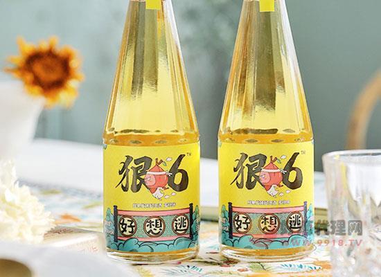 狠六無色蜜桃起泡酒怎么樣,鮮果釀造,天然無添加