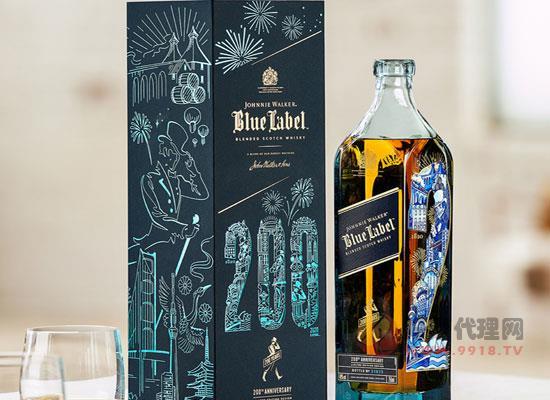 尊尼获加蓝牌200威士忌怎么样,限量设计,珍贵无比