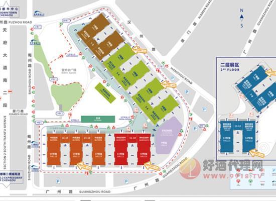 104屆成都春糖會展中心展館分布
