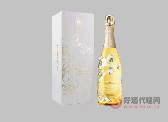 巴黎之花美麗時光白中白香檳,晶瑩剔透,口感豐富