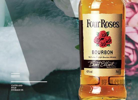 四玫瑰波本威士忌怎么樣,源于經典故事的佳釀