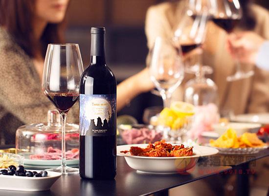 三只熊赤霞珠干红葡萄酒怎么样,好喝吗