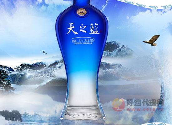 洋河天之蓝白酒礼盒装价格怎么样,一瓶多少钱
